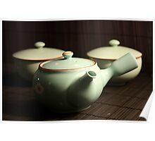 Green Tea set Poster