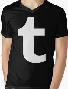 Tumblr Logo Mens V-Neck T-Shirt