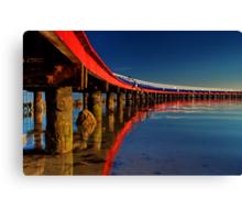 """Boardwalk Reflections"" Canvas Print"