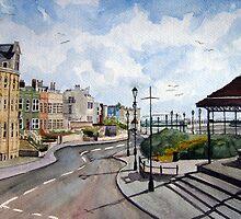 """A Quiet Evening"" - The North Esplanade, Burnham-on-Sea, Somerset by Timothy Smith"