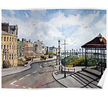 """A Quiet Evening"" - The North Esplanade, Burnham-on-Sea, Somerset Poster"