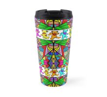 Grateful Dead Bears Trippy Pattern Travel Mug