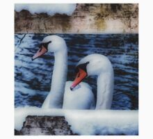 Two swans in the snow Baby Tee