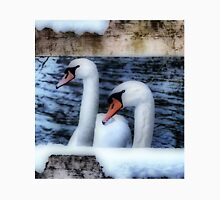 Two swans in the snow Unisex T-Shirt