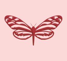 Red Butterfly Kids Tee
