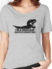 Dinosaur on the inside (For the ladies) Women's Relaxed Fit T-Shirt