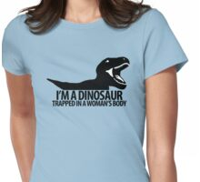 Dinosaur on the inside (For the ladies) Womens Fitted T-Shirt