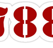 H.I.S.S. Numbers Sticker