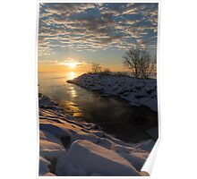 Sunshine on the Ice - Lake Ontario, Toronto, Canada Poster