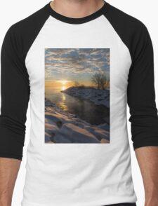 Sunshine on the Ice - Lake Ontario, Toronto, Canada Men's Baseball ¾ T-Shirt