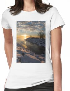 Sunshine on the Ice - Lake Ontario, Toronto, Canada Womens Fitted T-Shirt