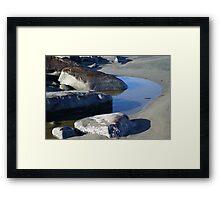 Tidal Pool at the North Jetty, Ocean Shores, Washington Framed Print