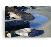 Tidal Pool at the North Jetty, Ocean Shores, Washington Canvas Print