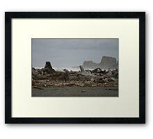 Rock Headlands seen from Moclips Framed Print