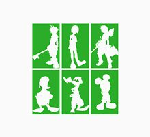 Kingdom Hearts - Character Roster (Green) Unisex T-Shirt