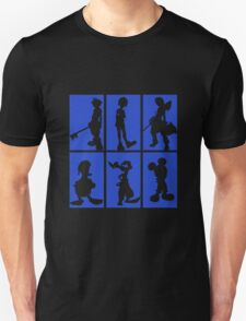 Kingdom Hearts - Character Roster (Blue) Unisex T-Shirt