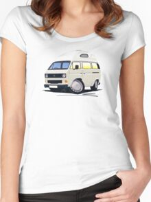 VW T25 / T3 (High Top) White Women's Fitted Scoop T-Shirt