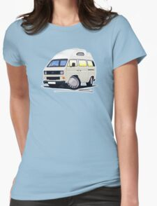 VW T25 / T3 (High Top) White Womens Fitted T-Shirt