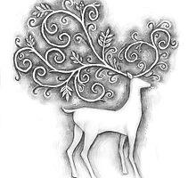 Decorative deer by Jo Cave  (cavecorner)
