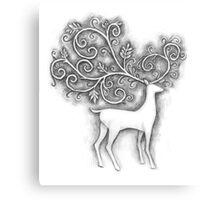 Decorative deer Canvas Print