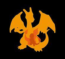 Pokémon Charmander Charmeleon Charizard Shape (Silhouette) by SvenjaMarc