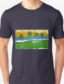 Palm Trees Golf Course Ocean T-Shirt