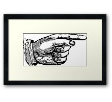 Pointing Hard, Drawing Framed Print