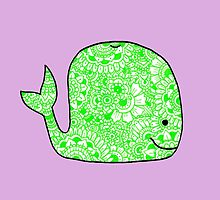 Whale: Green by MRLdesigns