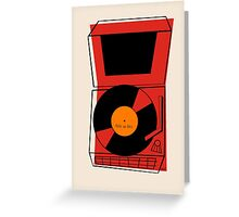 ROCK and ROLL Retro Vintage Record Player Phonograph Greeting Card