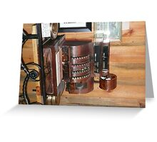 An Old Copper Cash Register. Greeting Card
