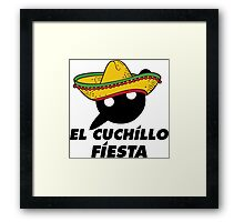 El Cuchillo Fiesta Knife Party Framed Print
