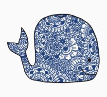 Whale: Royal Blue One Piece - Short Sleeve