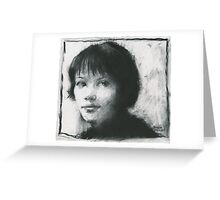 Anna Karina Greeting Card