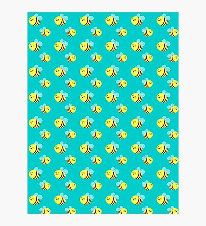 Bees - Pattern Photographic Print