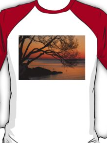 Colorful Quiet Sunrise on the Lake  T-Shirt