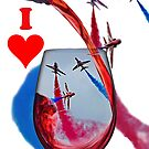 Red Arrows Tee Shirt - Wineglass by Colin  Williams Photography