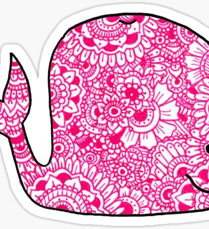 Whale: Pink Sticker