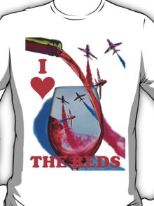 Red Arrows Tee Shirt - Wineglass T-Shirt