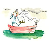 Sailing Girl Photographic Print