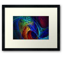 Midnight Blue Fractal Framed Print