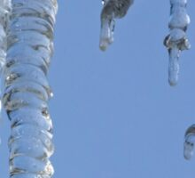 Clear blue sky with Icicles Sticker