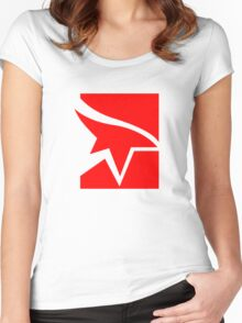 Mirror's Edge Logo Women's Fitted Scoop T-Shirt