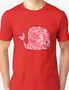Whale: Red  T-Shirt