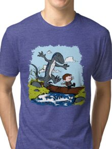 Jurassic World - Owen and Blue Tri-blend T-Shirt