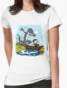 Jurassic World - Owen and Blue Womens Fitted T-Shirt