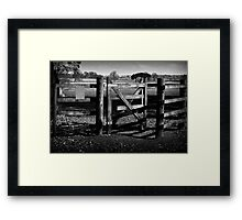 Country Gate Framed Print