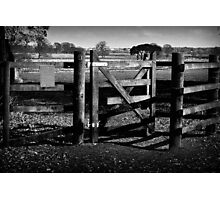 Country Gate Photographic Print