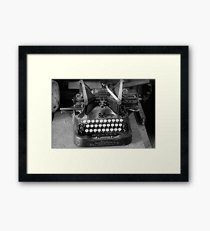 Typewritter Framed Print