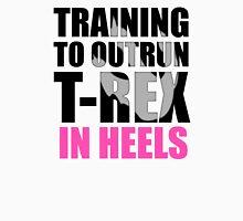 Outrun a T-rex - Black text Tank Top