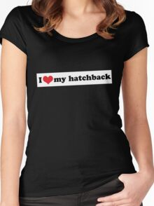 I ♥ my hatchback Women's Fitted Scoop T-Shirt